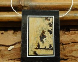 Chouhua jasper obsidian pendant (G1650)