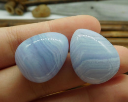 Blue Lace Agate Pairs
