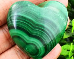 Genuine 340.00 Cts Malachite Heart Shape Cabochon