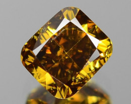 0.45 Cts UNTREATED FANCY HONEY BROWN NATURAL LOOSE DIAMOND