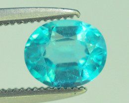 Great Luster 0.95 ct Apatite Mesmerizing Caribbean Color