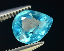 Great Luster 0.85 ct Apatite Mesmerizing Caribbean Color