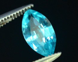 Great Luster 0.80 ct Apatite Mesmerizing Caribbean Color