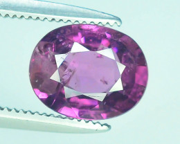 Rarest 1.65 ct Grape Garnet one of a Kind Fire