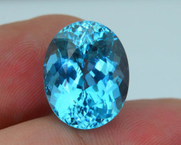 Neon Teal Color 11.40 ct Amazing Luster Blue Apatite SKU.7