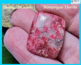 23mm Thulite cabochon or pink/red zoisite 23 by 19 by 3.5mm