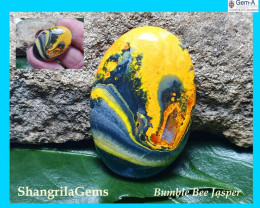 28mm BumbleBee Jasper AAA quality 19.5ct 28 by 20 by 4.5mm from Indonesia