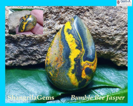 25mm BumbleBee Jasper AAA quality 17.5ct 25 by 18 by 5mm from Indonesia