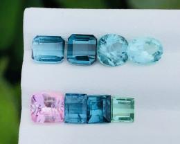 5 Ct Natural Blue &  Pink Transparent Tourmaline Small Gems Parcels
