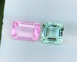 3.05 Ct Natural Green & Pink Transparent Tourmaline Gemstones Parcels