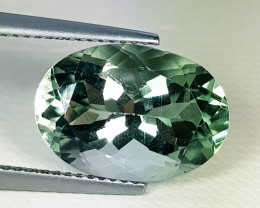 7.38 ct Top Quality  Gem Awesome Square Cut Green Amethyst