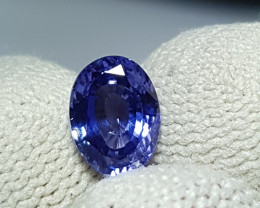 NO HEAT 1.61 CTS CERTIFIED NATURAL STUNNING VIOLETISH BLUE SAPPHIRE SRI LAN