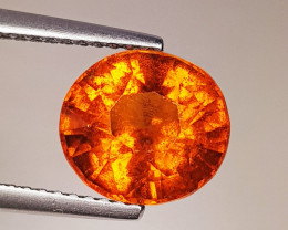 3.51 ct Top Quality Gem Oval Cut Top Luster Hessonite Garnet
