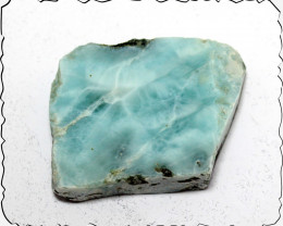 Beautiful Natural Clear Light Blue Larimar Specimen Slab 40x33x10mm 150cts