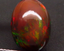 5.95 Ct. Natural Play of Color Rainbow Fire Hydrophane Opal – IGE Certific