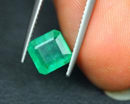 1.68ct Zambia Green Emerald Square Cut Lot GW4687