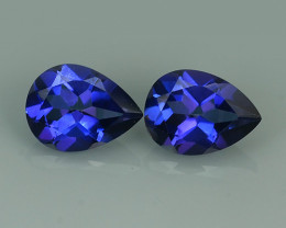 3.15 CTS WONDERFUL TANZANITE COLOR COTED TOPAZ PEAR