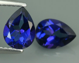 3.30 CTS WONDERFUL TANZANITE COLOR COTED TOPAZ PEAR~EXCELLENT!!