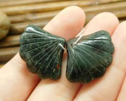 African bloodstone gemstone bead natural leaf beads (G1758)