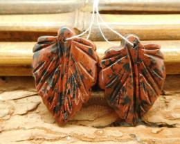 Mahogany obsidian carving gemstone beads (G1767)