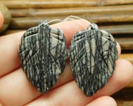 Picasso jasper handcarved gemstone jewelry beads (G1768)