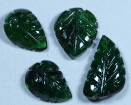 9.15cts Leave Tourmaline Carving Pair