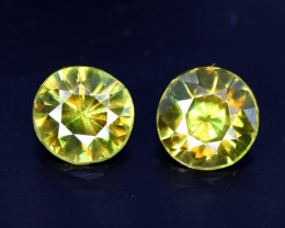 1.30 Carats Pair Of Sphene Gemstones