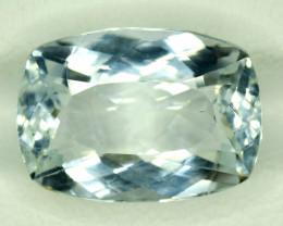 NR Auction 7.75 CT Natural Cushion Cut Aquamarine Gemstone