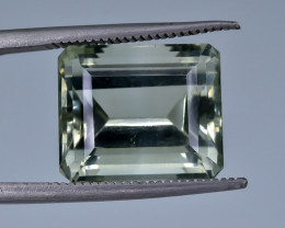 9.28 Crt Natural Prasiolite Green Amethyst Faceted Gemstone.( AB 17)