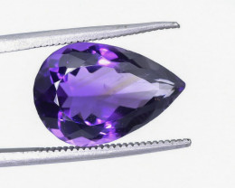 8.01 Crt Natural Amethyst Faceted Gemstone.( AB 17)