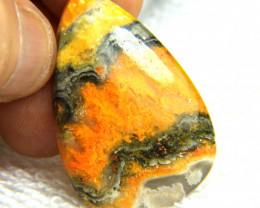 1$NR - 48.30 Carat Bumble Bee Jasper Pendant Stone - Vibrant
