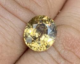 *NR* 4.65 ct Deep Yellow Zircon 9.2 x 8.1 x 5.5