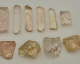 Rare ~ 98.45 ct Natural  katlang Peach Color Topaz crystal ~ Lot