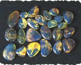Wholesale lot 24 Dominican Blue Amber Cabochons 14.2g