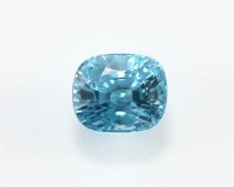 6.92ct Lab Certified Blue Zircon