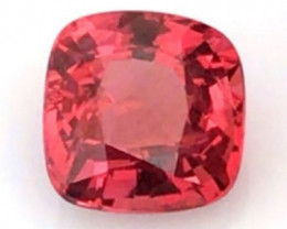 Bright Orangey Red Cushion Cut Spinel - Vietnam - H766