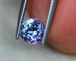 1.27Ct Violet Blue Tanzanite Round Cut Lot B1042