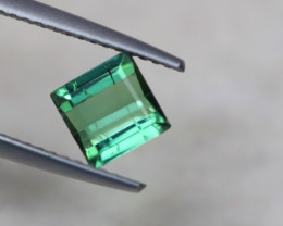 1.01Ct Green Tourmaline Square Cut Lot B1044