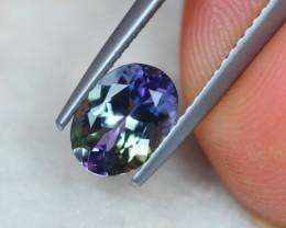 1.36Ct Greenish Violet Blue Tanzanite Oval Cut Lot B1046