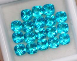 6.64Ct Paraiba Color Topaz Cushion Cut Lot B1047