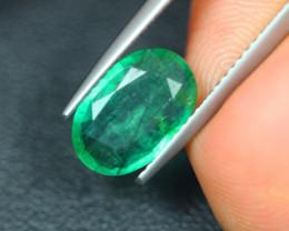 1.76Ct Natural Zambia Green Emerald Lot V5144