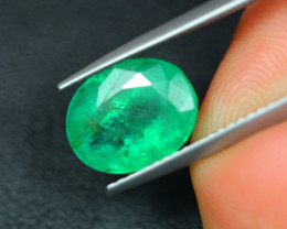 2.85Ct Natural Zambia Green Emerald Lot V5148