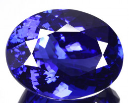 23.04 Cts Ultimate Natural Purple Blue Tanzanite Oval Tanzania Gem
