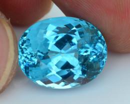 Rare 11.66 ct Amazing Luster Blue Apatite SKU.7