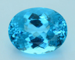 Neon Blue Apatite  13.57  ct Paraiba Like Color Madagascar SKU.7