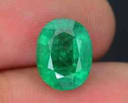 Top Grade 3.94 ct Zambian Emerald SKU-31