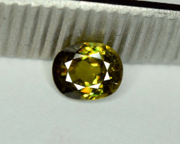 1.25 carats AAA Color Full Fire Mossy Green Sparkles Natural Chrome Sphene