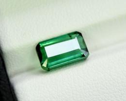 3.90 Carats Emerald Cut Pastel Teal Green Color Afghanistan Tourmaline Gems