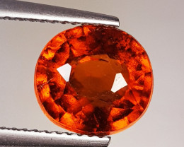 4.45 ct Top Quality Gem Round Cut Top Luster Hessonite Garnet