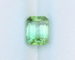 2.60 Ct Natural Light Green Transparent Tourmaline Gemstone